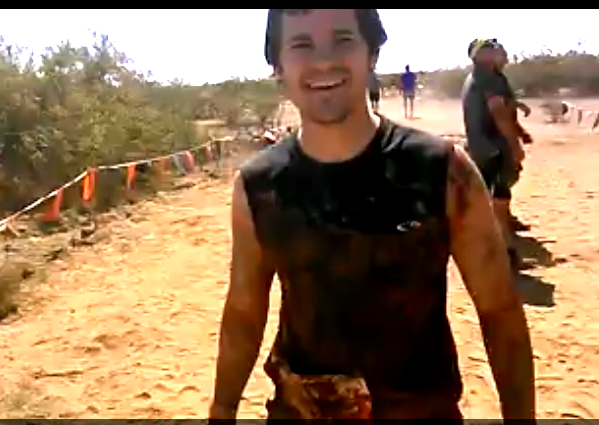 Me about halfway through the Tough Mudder