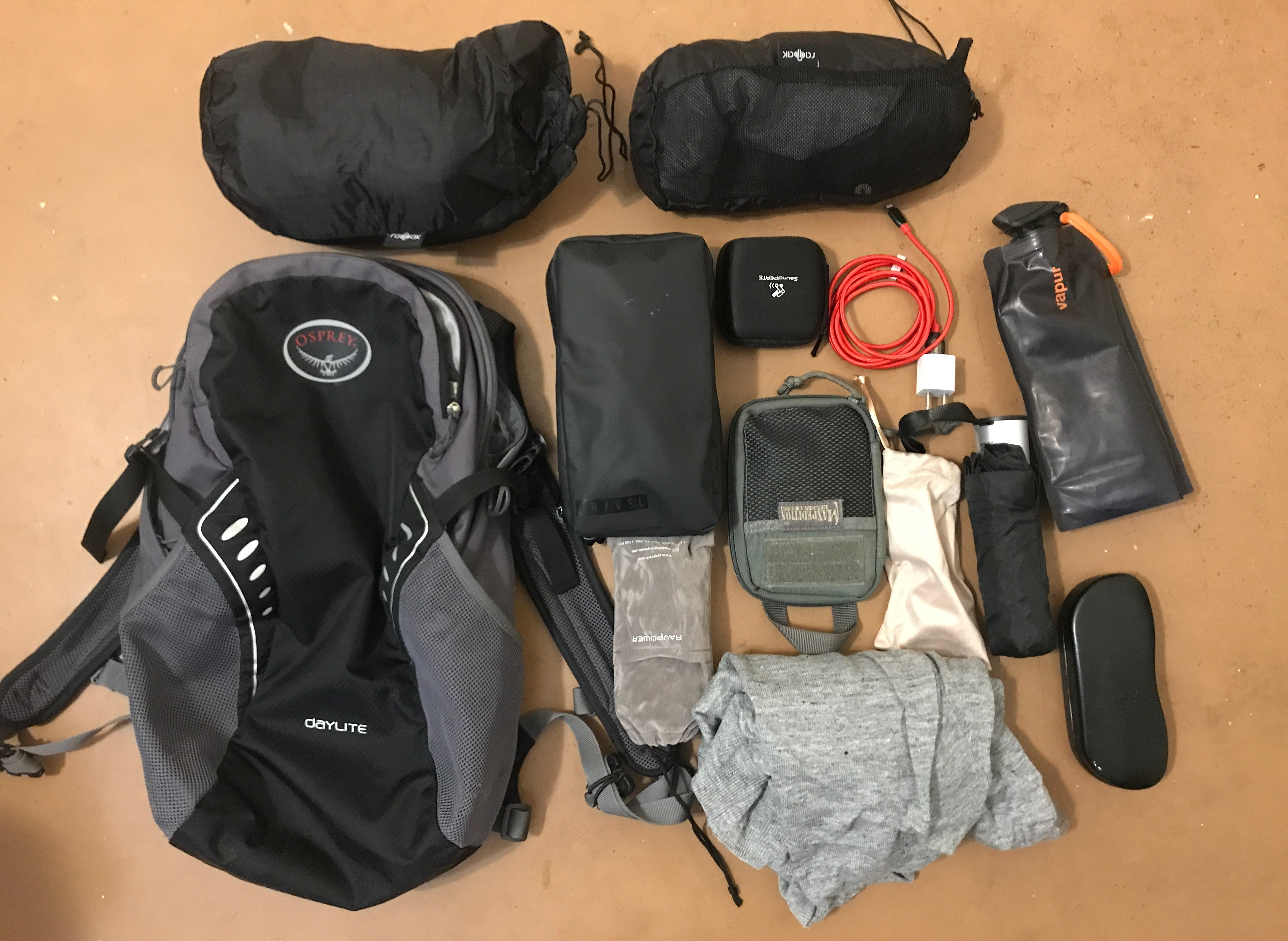 Osprey Daylite packing layout