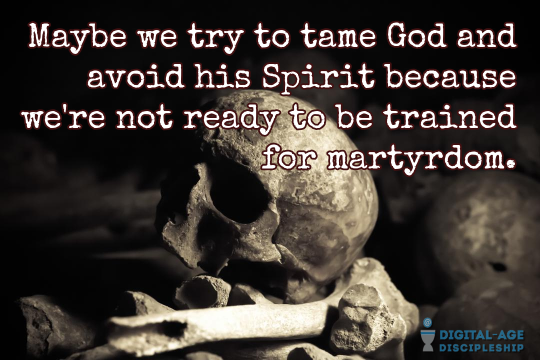 Be trained for martyrdom